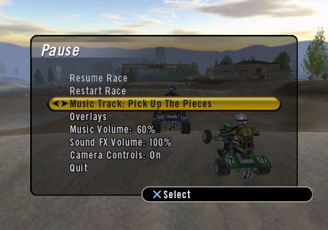 Atv Offroad Fury 2 Pause Screen 171 Brian Coonce